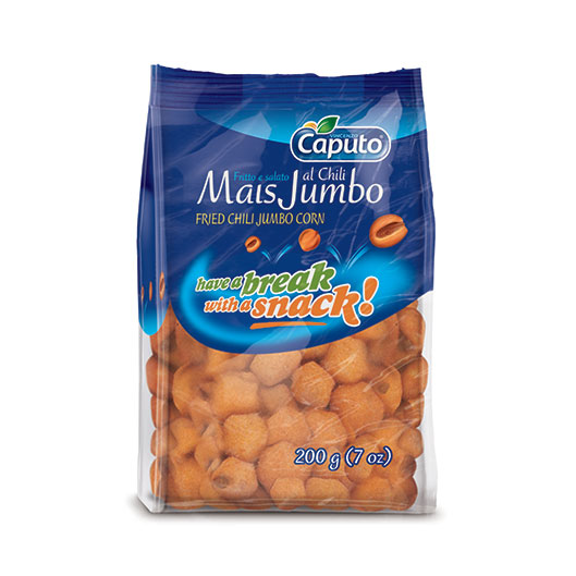 Fried chili Jumbo corn: Nuts on the move - Vincenzo Caputo Srl