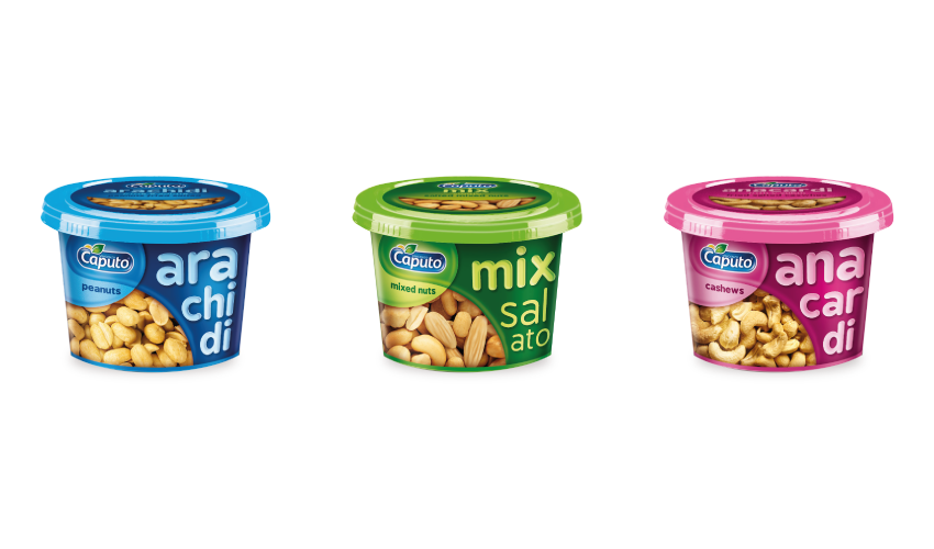 Cans: Nuts on the Move - Distributed by Vincenzo Caputo Srl