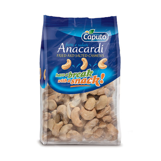 Fried and salted cashews: Nuts on the move - Vincenzo Caputo S.r.l.