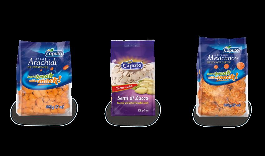 Snack Salati: Frutta secca in Movimento - Vincenzo Caputo Srl