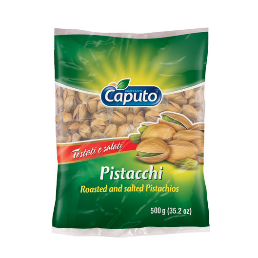 Roasted Pistachios 500g: Nuts on the move - Vincenzo Caputo Srl