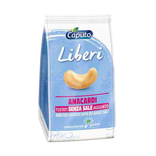 Cashews Liberi Roasted nuts with no added salt - Vincenzo Caputo S.r.l.