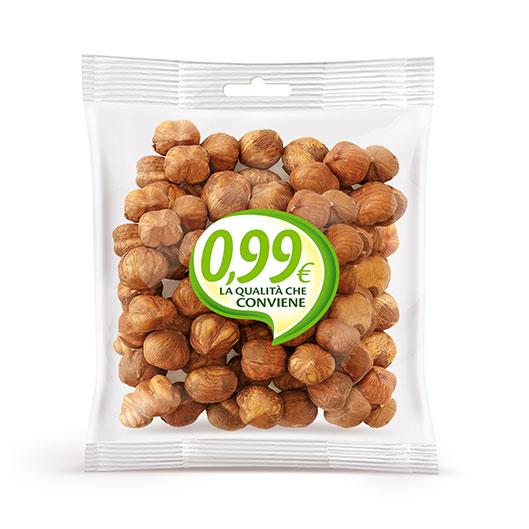 Shelled hazelnuts 0,99 - Linea 0,99 Trasparente | Vincenzo Caputo SRL